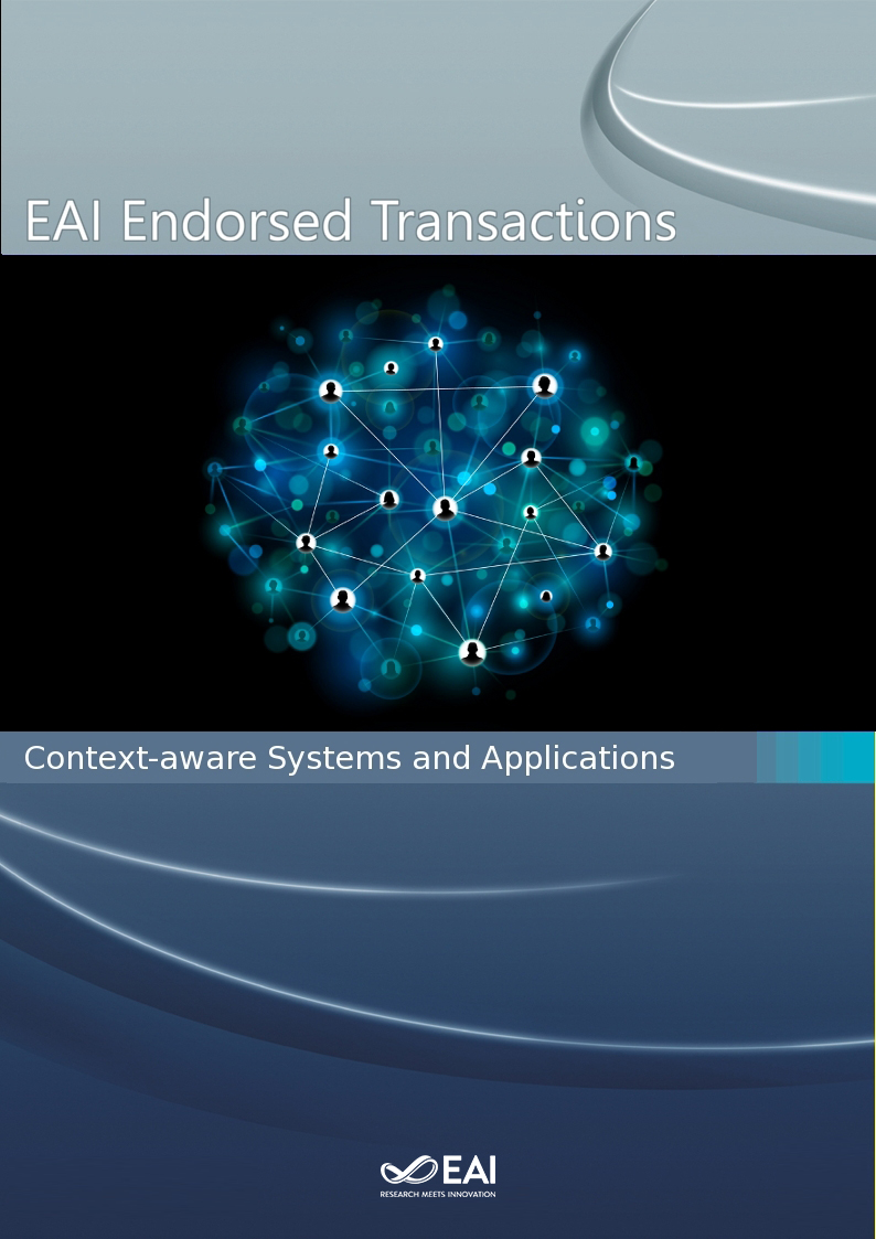 EAI Endorsed Transactions on Context-aware Systems and Applications